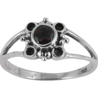 Tropical Glow!! Garnet 925 Sterling Silver Ring