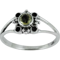 Delicate!! Citrine 925 Sterling Silver Ring