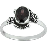 Beautiful!! Garnet 925 Sterling Silver Ring