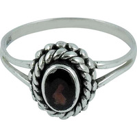 Big Natural Top !! Garnet 925 Sterling Silver Ring