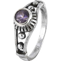 Abstract!! Amethyst 925 Sterling Silver Rings