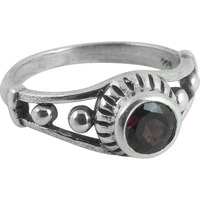 Royal Style! Garnet 925 Sterling Silver Rings