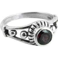 Large Stunning! Garnet 925 Sterling Silver Rings