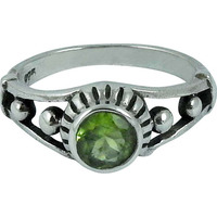 Exclusive! Peridot 925 Sterling Silver Rings