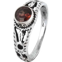 Passion! Garnet 925 Sterling Silver Ring