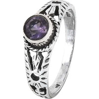 Antique Look!! Amethyst 925 Sterling Silver Rings