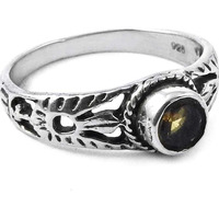 Paradise Bloom!! Citrine 925 Sterling Silver Ring