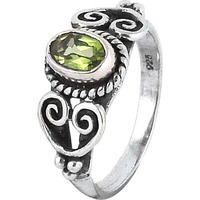 Big Weaving Light!! Peridot 925 Sterling Silver Rings