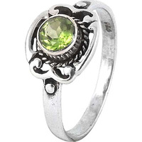 Blooming Garden!! Peridot 925 Sterling Silver Rings