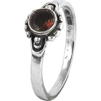 Created!! Garnet 925 Sterling Silver Rings