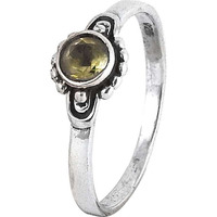 Chunky ! Citrine 925 Sterling Silver Ring