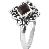 Hot ! Garnet 925 Sterling Silver Ring
