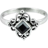 Created ! Black Onyx 925 Sterling Silver Ring
