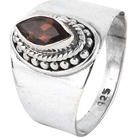 Natural Beauty!! Garnet 925 Sterling Silver Rings