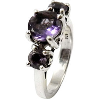 Classy Natural ! 925 Sterling Silver Amethyst Ring
