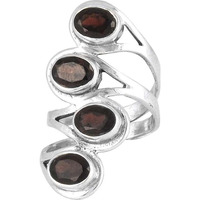 Excellent!! Garnet 925 Sterling Silver Rings