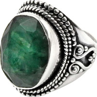 Mystic Princess!! Emerald 925 Sterling Silver Ring