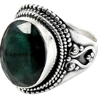 Excellent!! Emerald 925 Sterling Silver Ring