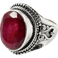 Spectacular Design!! Ruby 925 Sterling Silver Ring