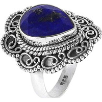 New Fashion!! Lapis 925 Sterling Silver Rings