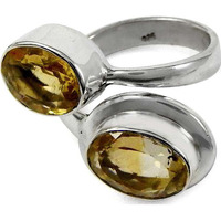 Billowing Clouds! 925 Sterling Silver Citrine Ring