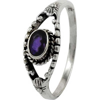Love At First Sight Light ! 925 Sterling Silver Amethyst Ring