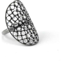 Big Grand Love !! 925 Sterling Silver White CZ Ring