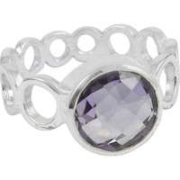 Very Delicate 925 Silver Amethyst Ring