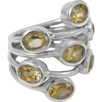 Draditions 925 Silver Citrine Ring