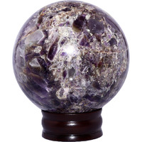 Shiva crystal reiki seven chakra gemstones aura Amethyst sphere ball (medium)