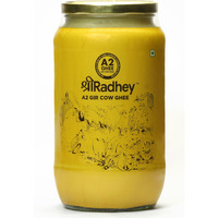 Shree Radhey Certified A2 Gir Cow Ghee - (Traditionaly Churned) Keto Friendly (1000ml)