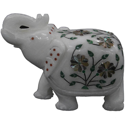 White Marble Elephan ...