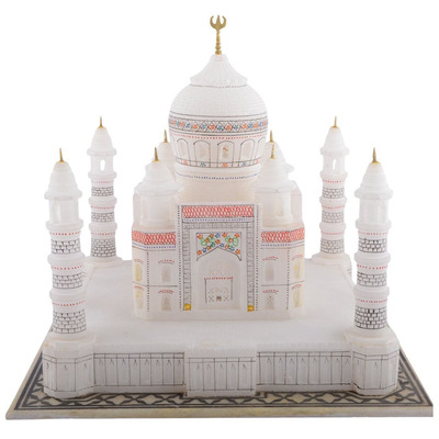"6"" Marble Agra Taj Mahal Handmade Replica Epitome Of Love Christmas Decor Gifts"