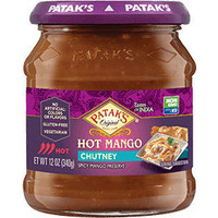 Patak's Hot Mango Chutney (12 oz bottle)