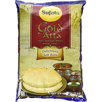 Sujata Gold Atta (Wheat Flour) - 100% Sharbati Atta - 10 lbs (10 lbs bag)