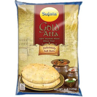 Sujata Gold Atta (Wheat Flour) - 100% Sharbati Atta - 4 lbs (4 lbs bag)