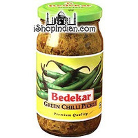 Bedekar Green Chili Pickle (400 gm bottle)