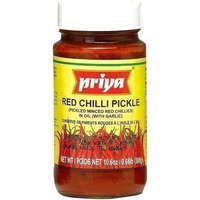 Priya Red Chili Pickle with Garlic (300 gm bottle)