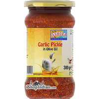 Ashoka Garlic Pickle in Olive Oil (10.5 oz bottle)