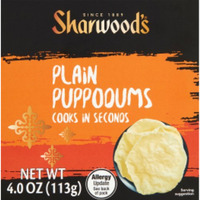 Sharwood's Indian Pappodums - Plain (4 oz box)