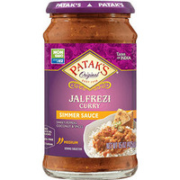 Patak's Jalfrezi Curry Simmer Sauce (Sweet and Spicy Peppers & Coconut - Medium) (15 oz bottle)