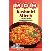 MDH Kashmiri Mirch (chili) Powder (3.5 oz box)