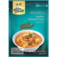 Asian Home Gourmet Singapore Chicken Curry Spice Paste - Mild (50 gm pack)