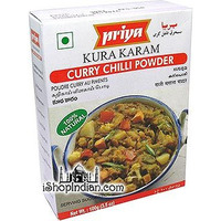 Priya Kura Karam - Curry Chilli Powder (3.5 oz box)