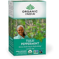 Organic India Tulsi Peppermint Tea (18 tea bags)