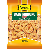 Anand Baby Muruku (spicy) (7 oz bag)