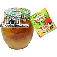 Buram Bee Flower Honey with Comb (16 oz jar)