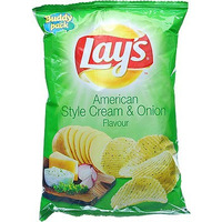 Lay's Cream & Onion Flavour Potato Chips (52 gms bag)
