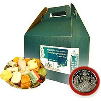 Mixed Sweets and Laxmi Silver Coin Gift Set