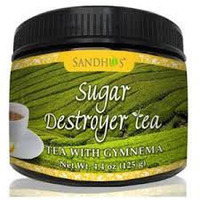 Sugar Destroyer Tea (Tea with Gymnema for healthy blood sugar) (4.4 oz jar)